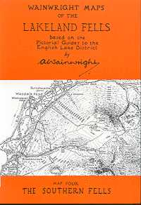 Wainwright Maps of the Lakeland Fells: Map Four - The Southern Fells