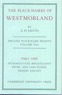 The Place-Names of Westmorland Part One