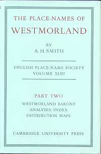 The Place-Names of Westmorland Part Two