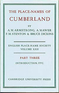 The Place-Names of Cumberland Part Three