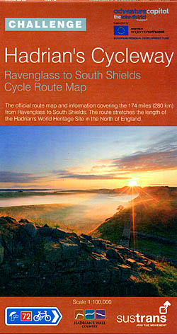 Hadrian's Cycleway - Ravenglass to South Shields Route Map