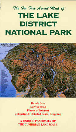 Aerial Map of the Lake District National Park