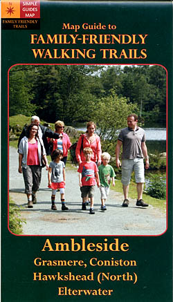 Map Guide to Family-Friendly Walking Trails - Ambleside Grasmere, Coniston Hawkshead (North) Elterwater