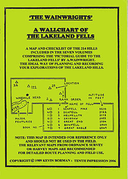 'The Wainwrights': A Wallchart of the Lakeland Fells
