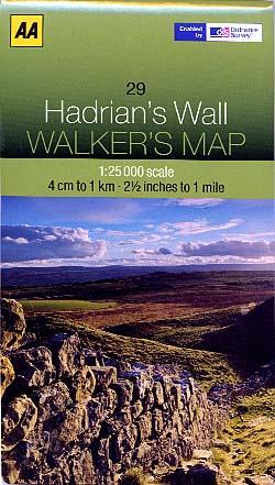 Hadrian's Wall Walker's Map