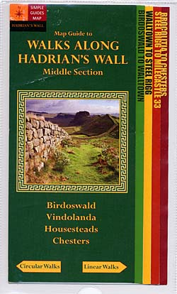 Walks Along Hadrian's Wall - Middle Section Map Guide