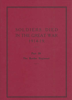 Soldiers Died in the Great War 1914-19 - Part 39, Border Regiment