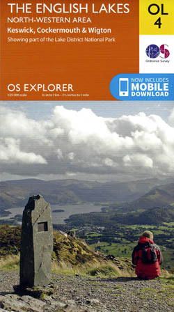 OS Explorer OL4 The English Lakes, North Western area,Keswick,Cockermouth and Wigton