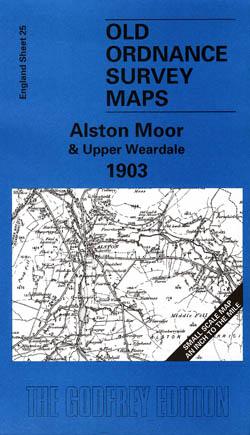 Old Ordnance Survey Maps Alston Moor and Upper Weardale 1903