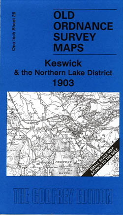 Old Ordnance Survey Maps Keswick and Northern Lakes 1903