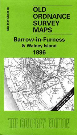 Old Ordnance Survey Maps Barrow-in-Furness and Walney Island 1896