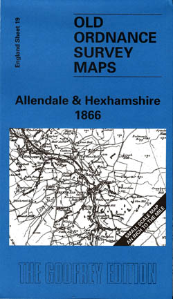 Old Ordnance Survey Maps Allendale and Hexhamshire 1866