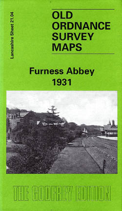 Old Ordnance Survey Maps Furness Abbey 1931