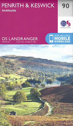 Landranger Map 90: Penrith & Keswick, Ambleside