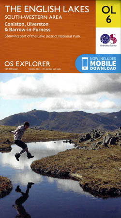 OS Explorer Map OL6: The English Lakes - South-Western Area, Coniston, Ulverston & Barrow-in-Furness