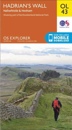 OS Explorer OL43 Map: Hadrian's Wall, Haltwistle & Hexham
