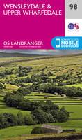 Wensleydale & Upper Wharfedale OS Landranger Map; 98
