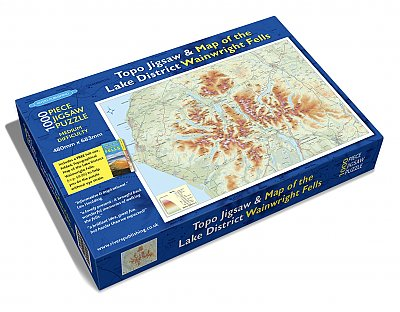 Topo Jigsaw & Map of the Lake District Wainwright Fells (1000 Piece)