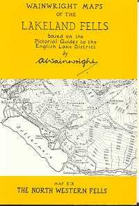 Wainwright Maps of the Lakeland Fells: Map Six - The North Western Fells