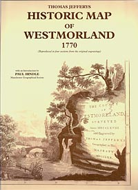Thomas Jefferys Historic Map of Westmorland 1770